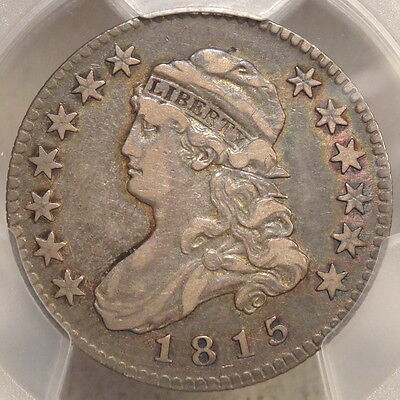 1815 Capped Bust Quarter, Choice Very Fine PCGS/CAC VF-25, Attractive Type Coin