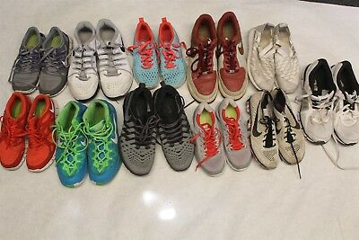 NIKE Lot x 11 Pairs Wholesale Used Shoes Rehab Resale Mens Womens Kids cKrR