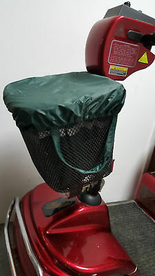 Deluxe quality mobility scooter waterproof basket bag and cover