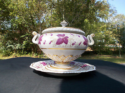 Rare, British Porcelain Flight, Barr & Barr Worcester Soup Tureen (c. 1810)