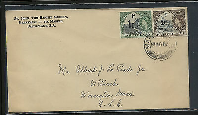 Basutoland  revlaued stamps on cover to  US   1961       KEL0416