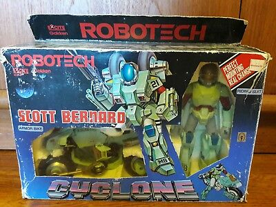 1980's ROBOTECH CYCLONE ARMOR BIKE SCOTT BERNARD in box Gakken