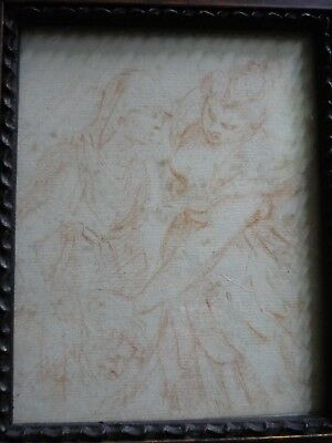 Old master drawing Judith slaying Holofernes. Italian school. 1600s