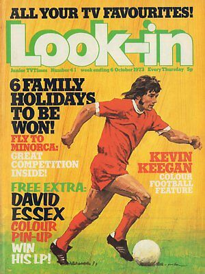 LOOK IN MAGAZINE. ISSUE 41. 6th October 1973. David Essex Double Spread.