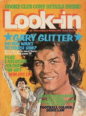 LOOK IN MAGAZINE. ISSUE 42. 13th October 1973. Gary Glitter Double Spread.