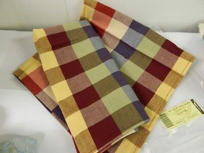 Longaberger Fabric Napkins Woven Tranditions Everyday Plaid s/2 NEW 267783231
