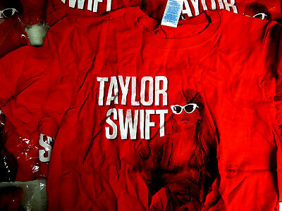 Lot Of 112 Taylor Swift T Shirts Tees All Womens Size Small Nwt White & Red New