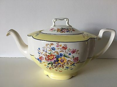 Pareek Teapot Johnson Brothers England - Yellow Floral Design