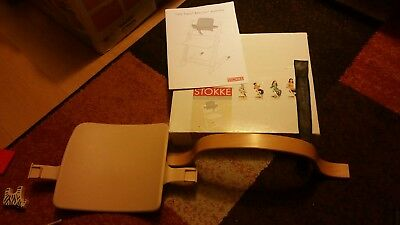 Stokke Tripp Trapp High Chair Baby Seat Set natural colour. Leather strap. Boxed