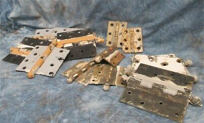 14 Hinges Door Cabinet Vintage Architectural Salvage Element Hardware Lot