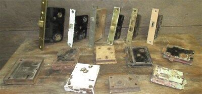 14 Locks Rim Night Latch Dead Bolt Architectural Salvage Door Hardware Mortise c