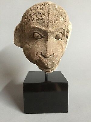 Ancient Stone head of Hanuman, Madhya Pradesh, 9th C. AD