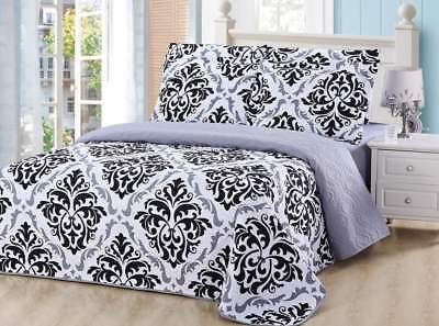 6 Piece Pinsonic Printed Bedding Bedspread Coverlet Quilt Set (Include Sheet)