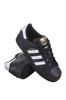 B23642 Kids Grade School Superstar Foundation J Adidas Black White