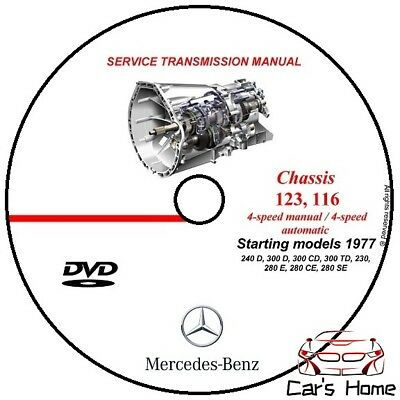 Manuale Officina Mercedes Benz W123(716) Transmission Manual Dvd