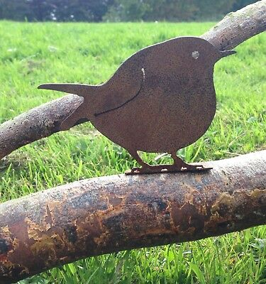 Rustic Metal Robin Fence / Post Topper Winter / Christmas
