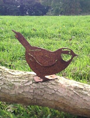 Rustic Metal Bluetit Bird Fence / Post Topper