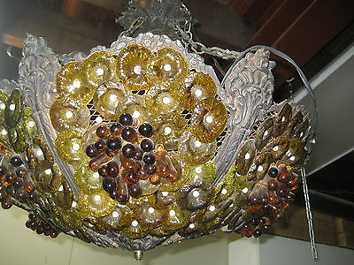 Beautiful Venetian Color Glass with Grapes Chandelier