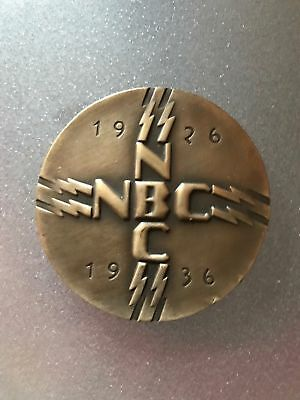 National Broadcasting Company NBC 10th Anniversary Medal - Bronze!