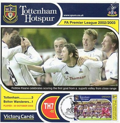 Spurs 2002-03 Bolton (Robbie Keane) Football Stamp Victory Card #207