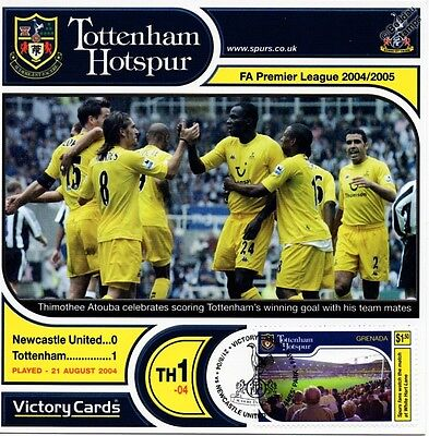 Spurs 2004-05 Newcastle Utd (Thimothee Atouba) Football Stamp Victory Card #401
