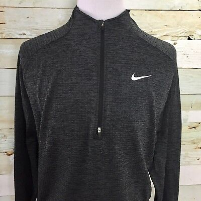 Nike Men's Dri Fit Long Sleeve Textured 1/2 Zip Black Size XL