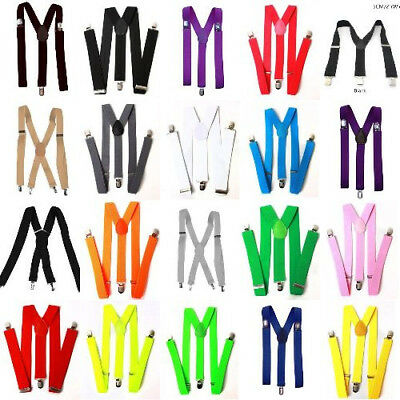 Back Y Shape Adjustable Suspenders Shoulder Straps For Man Woman and Kids US