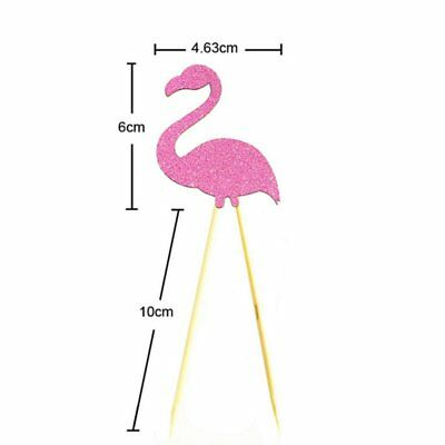 Flamingo Cupcake Cake Paper Multicolor Flags Toppers Decoration Party Decor