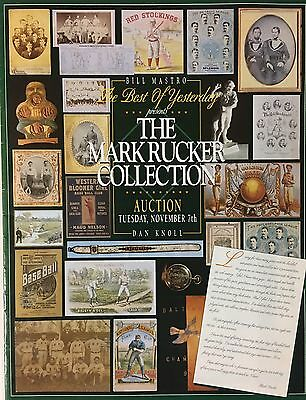 1995 Mark Rucker Baseball Collection, Mastro & Knoll auction & 3 more auctions