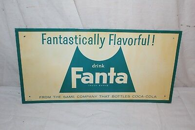 "Vintage c.1960 Fanta Coca Cola Soda Pop Gas Station 18"" Metal Sign"