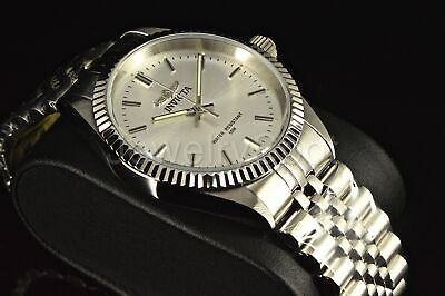 Invicta Men's 35MM Speciality Camelot ALL SILVER Sunray Dial SS Bracelet Watch