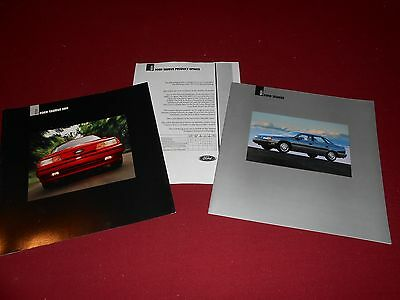 1991 FORD TAURUS 20-Page CATALOG + 91 TAURUS SHO BROCHURE & MORE, 3 For 1 Deal!