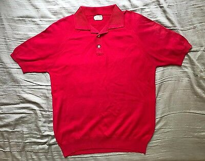 Men's vintage 50's Alfred of New York red mod hippy retro shirt size M
