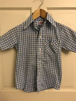 Vintage Levi's Boys Shirt. Size 7 Western Style 70's Made In The USA (A4)