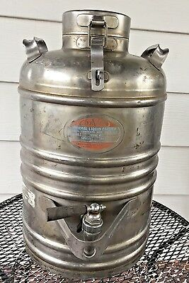 Vintage U.s. Navy Aervoid Thermal Liquid Carrier Vacuum Can Co Chicago 3 Gallon