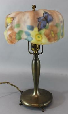 Antique Authentic Signed Pairpoint Puffy Papillon Boudoir Table Lamp
