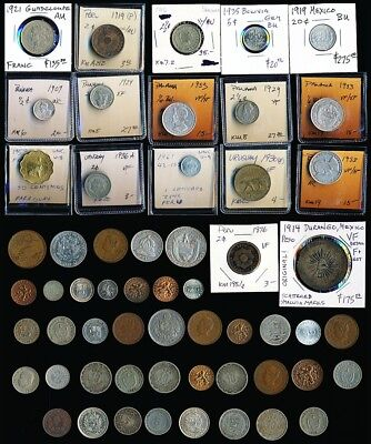 57 Old Mexico Panama & More South/latin America Coins > No Reserve