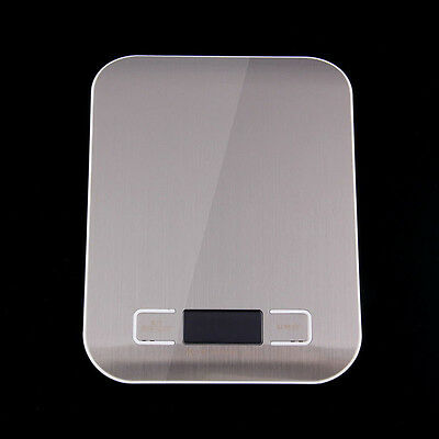 Top 5kg/1g Stainless Steel Platform LED Digital Touch Food Scales Kitchen Tools
