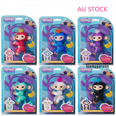 6 COLOR WowWee Fingerlings Baby Monkey Electronic Interactive Toy Robot Pet Gift