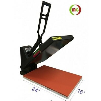 "New! 16 X 24"" Heat Press (Flat) with Teflon-coated heat elemen  Vertical Style"