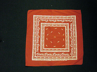 Vintage Adolph COORS 1983 Red White Bandana