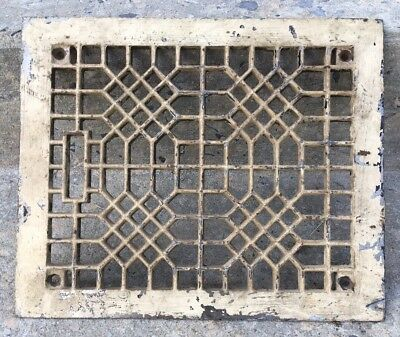 Antique Vintage Rectangle Floor Grate Register Architecture Heating Vent Steam P