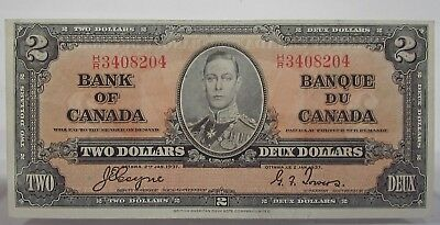 CANADA 1937  $2 Bank Note Two Dollars  HR3408204      #918s37CTD