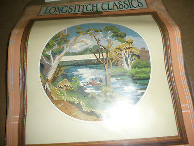 """Semco -  """"boating On The River""""- Long Stitch Kit - New"""