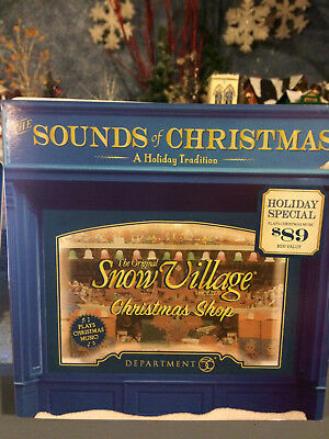 "Snow Village  The Sounds of Christmas   ""Jolly's Christmas Trim""    NEW!"