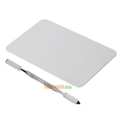 Colour Palette Stainless Steel Rectangle Holeless Palette Plate Knife #ORP