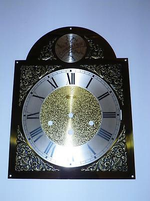 VTG NOS RIDGEWAY BRASS GRANDFATHER CLOCK DIAL FACE: 9.75 INCHES w/ROMAN NUMERALS
