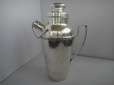Sterling Silver Webster Martini Shaker Hammered