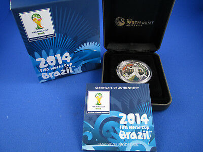 2014 1/2oz Silver Proof Coin  - FIFA World Cup Brazil - Absolutely Magnificent!!