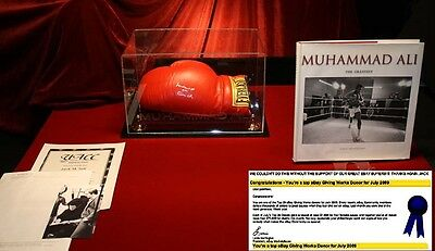 BEST Signed MUHAMMAD ALI, CASSIUS CLAY Autograph Boxing GLOVE, RR COA, UACC Case